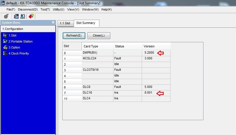 نحوه ارتقاء ورژن دستگاهای سانترال و کارتهای سانترال سری TDA TDE